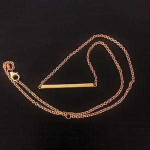 ✨18K Italy Milor Gold Bar Necklace